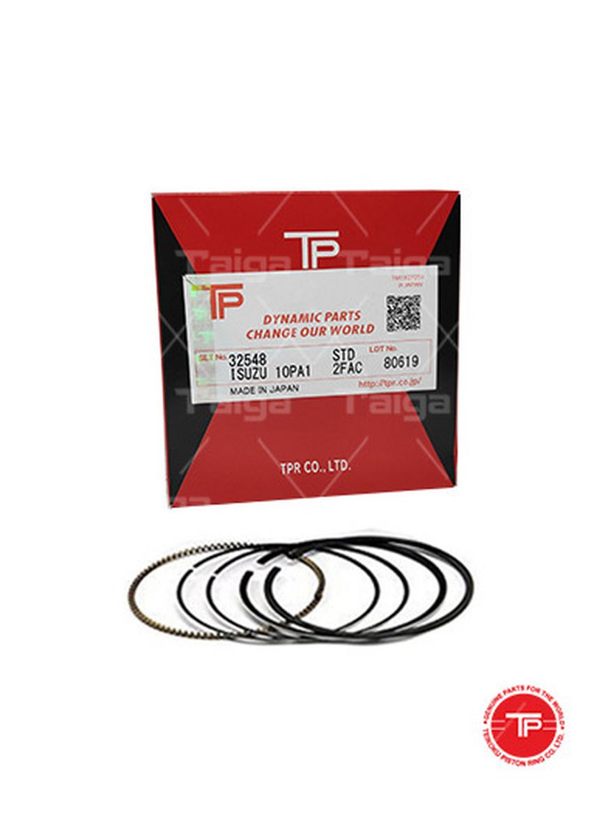 No Color color Piston Systems . TP Piston Ring 32548 cylinder-STANDARD set of  8 for  Isuzu Truck,  Bus, 8PA1 -