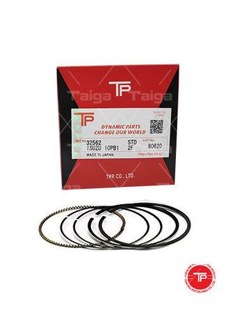 No Color color Piston Systems . TP Piston Ring 32562 cylinder-STANDARD set of  8 for  Isuzu Truck,  Bus, 8PB1 -
