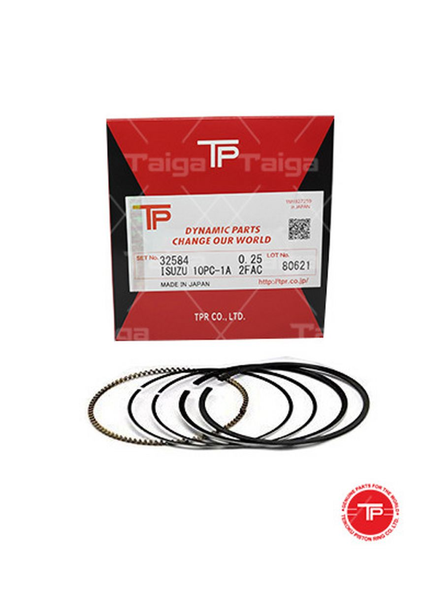 No Color color Piston Systems . TP Piston Ring 32584 cylinder-0.25 Thick (4mm) Top Ring  set 10 for  Isuzu Truck,  Bus, 10PC1A -