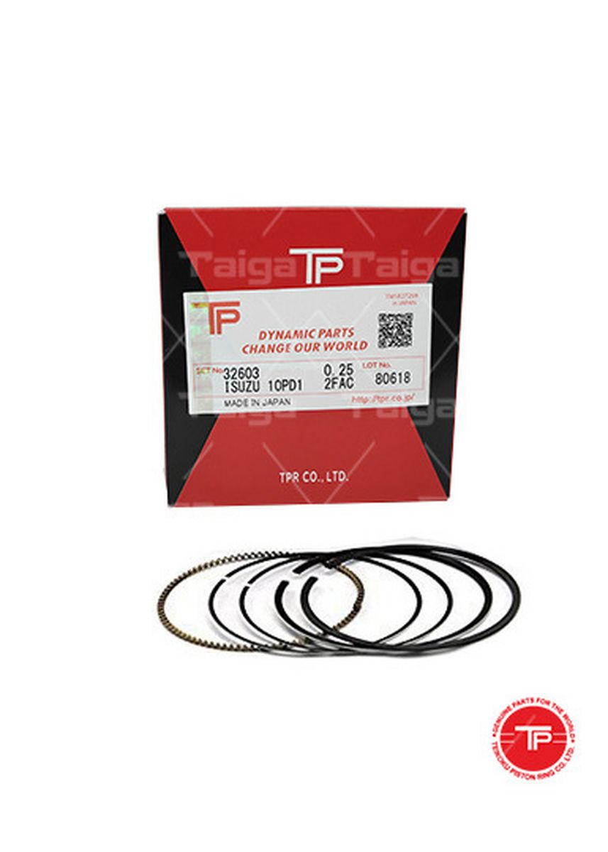 No Color color Piston Systems . TP Piston Ring 32603 cylinder-0.25 set of  10 for  Isuzu Truck, Bus, 10PD1 -