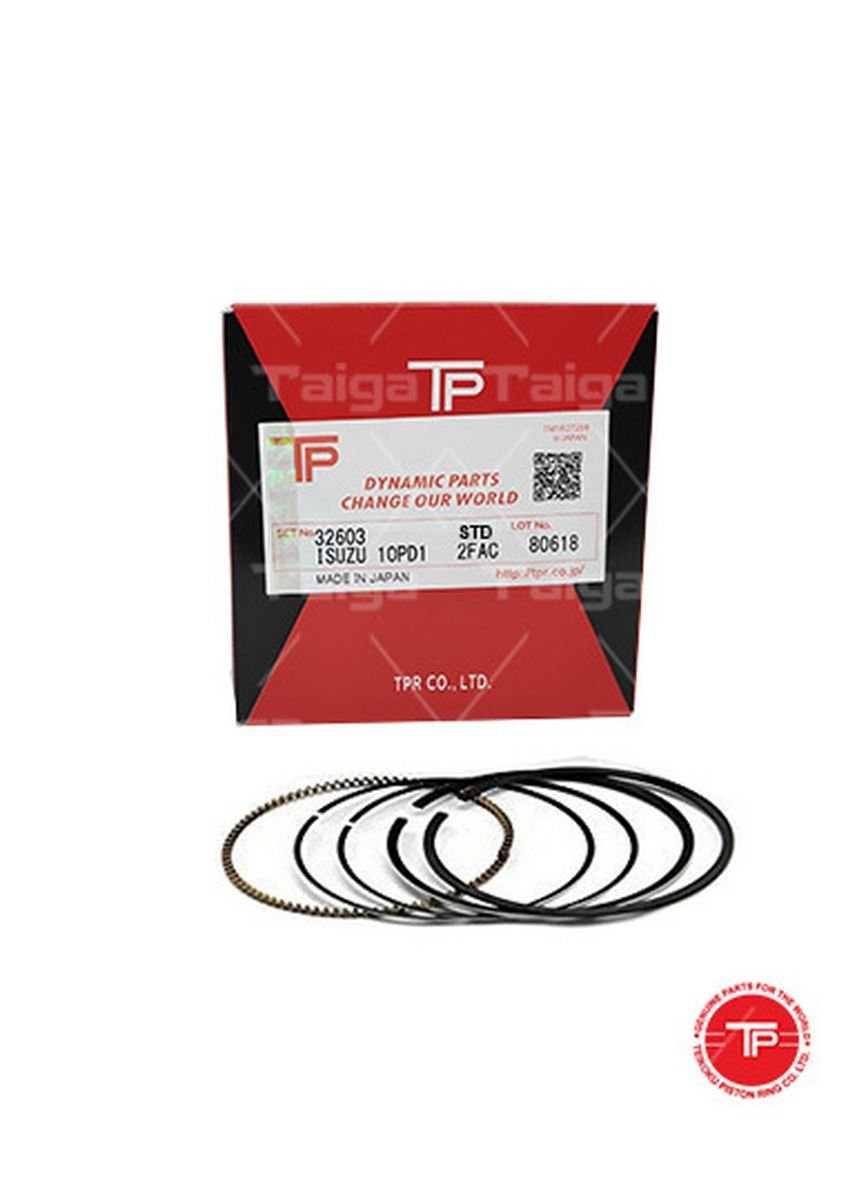 No Color color Piston Systems . TP Piston Ring 32603 cylinder-STANDARD set of  10 for  Isuzu Truck, Bus, 10PD1 -