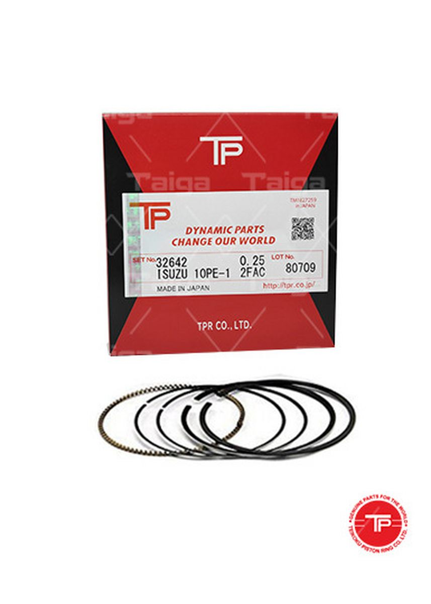 No Color color Piston Systems . TP Piston Ring 32642 cylinder-0.25 set of  10 for  Isuzu Truck, 10PE1 -
