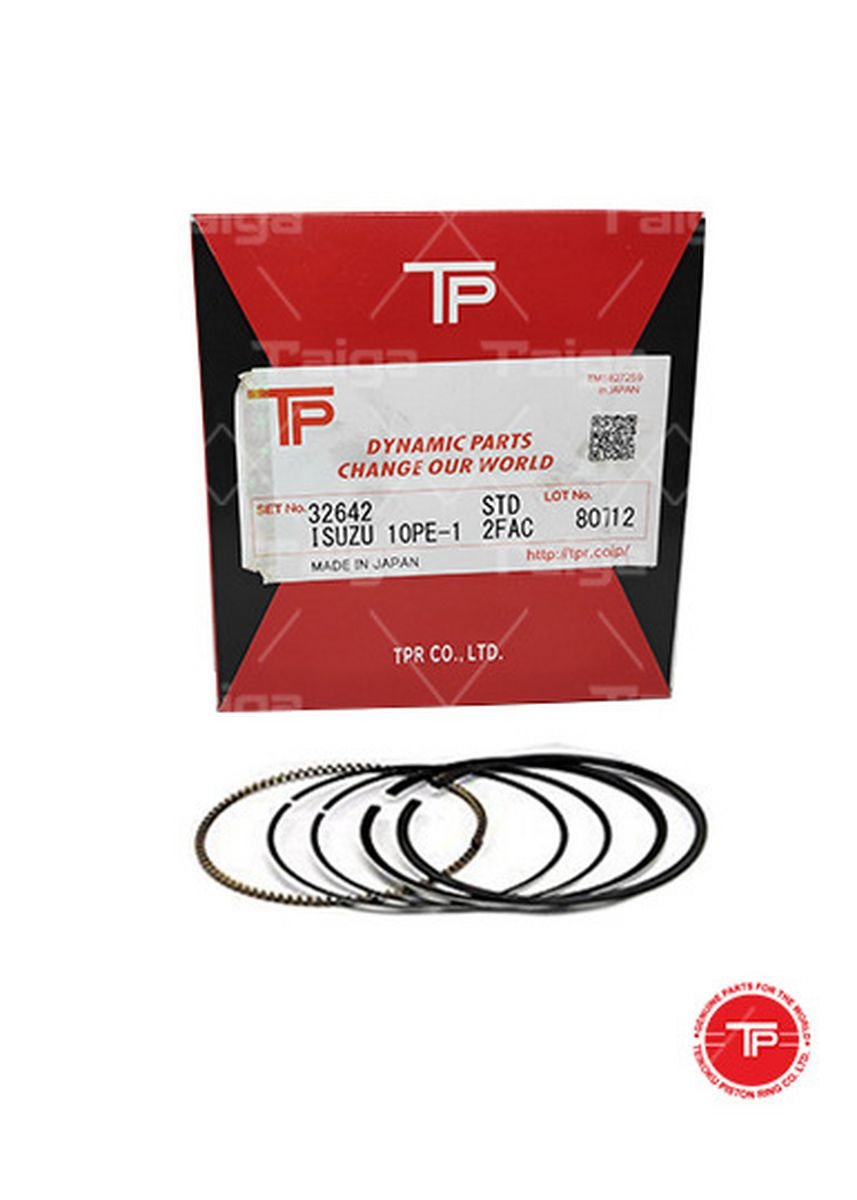 No Color color Piston Systems . TP Piston Ring 32642 cylinder-STANDARD set of  10 for  Isuzu Truck, 10PE1 -