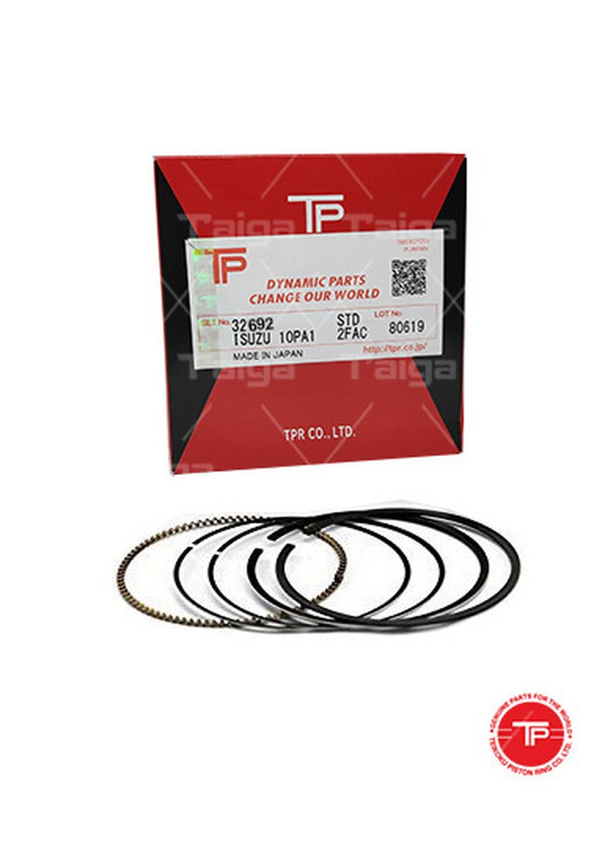 No Color color Piston Systems . TP Piston Ring 32692 cylinder-STANDARD set of  6 for  Isuzu Elf,  forward, 6HK1 -