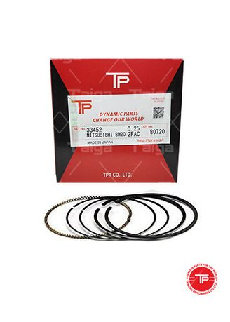 No Color color Piston Systems . TP Piston Ring 33452 cylinder-0.25 set of  8 for  Mitsubishi Truck, 8M20 -