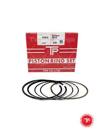 No Color color Piston Systems . TP Piston Ring 33910-STANDARD set of  6 for  Mitsubishi Truck, 6D16 -