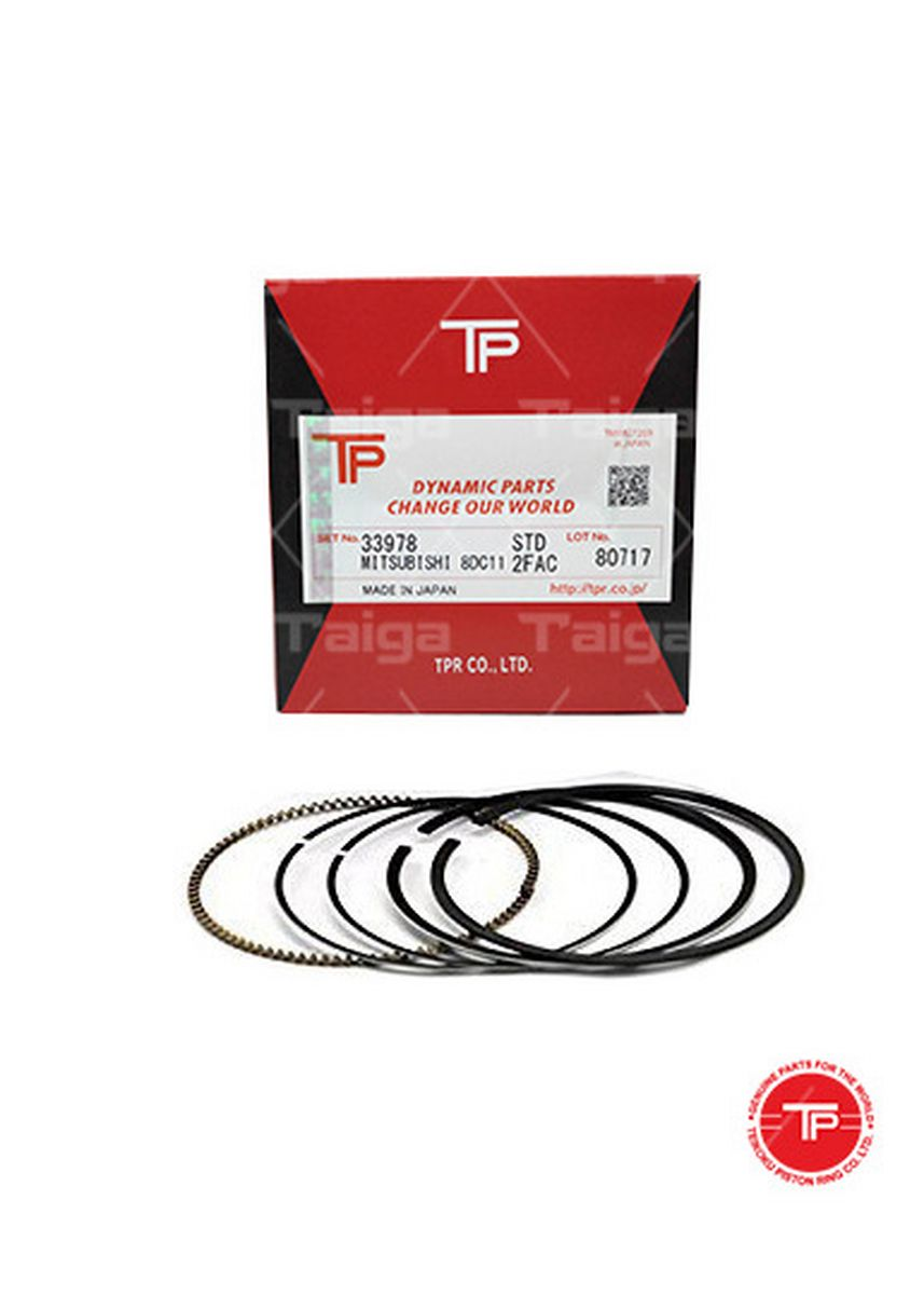 No Color color Piston Systems . TP Piston Ring 33978 cylinder-STANDARD set of  8 for  Mitsubishi Aero Bus,  Super Great, 8DC11 -