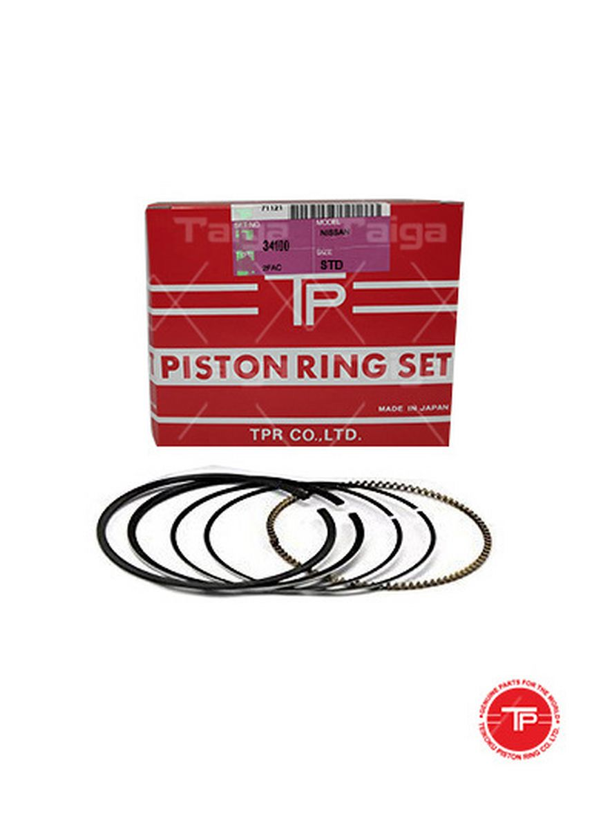 No Color color Piston Systems . TP Piston Ring 341002FAC-STANDARD set of  6 for  Nissan Truck, FE6 -