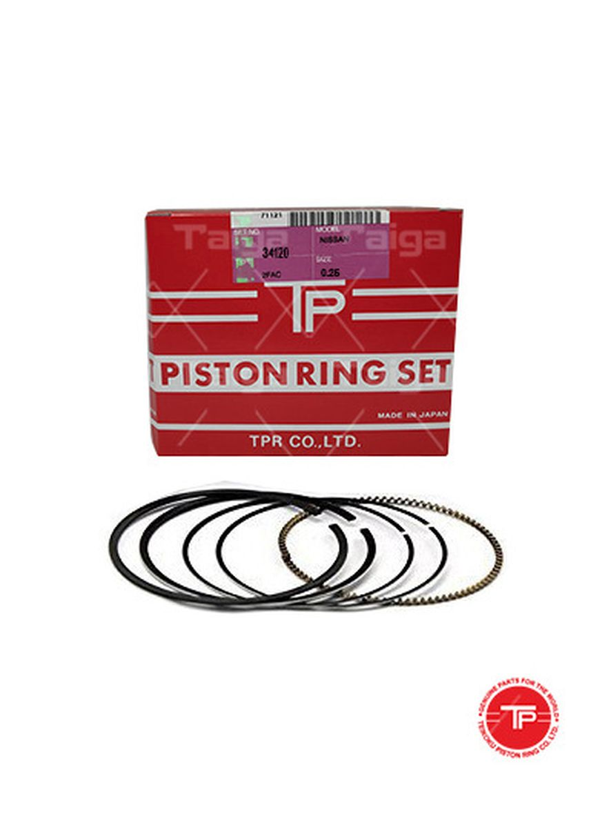 No Color color Piston Systems . TP Piston Ring 34120-0.25 set of  4 for  Nissan Condor, FD42 -