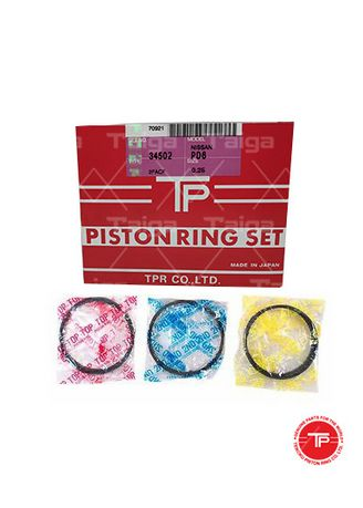 No Color color Piston Systems . TP Piston Ring 34502-0.25 set of  6 for  Nissan Truck, Bus, PE6 -