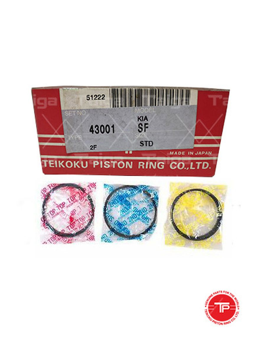 No Color color Piston Systems . TP Piston Ring 43001-STANDARD set of  4 for  Kia K2700, Besta, SF -