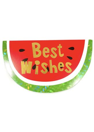 Red color Home Decor . Watermelon Best Wishes Card -