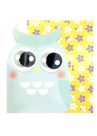 Green color Home Decor . Owl Greeting Card -
