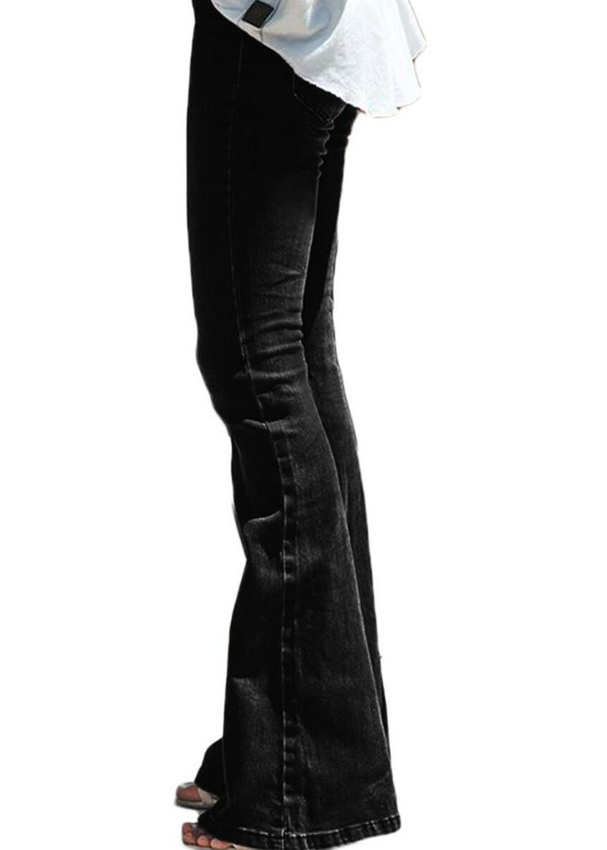 Black color Jeans . Women's Fashion Flared Jeans -