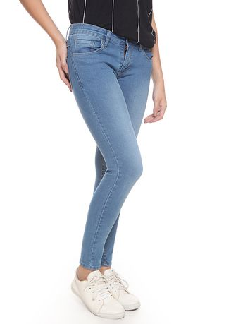 Biru color Celana Jeans . 2Nd RED Jeans Slim Fit Wanita Skinny Jeans Octavia Biru 233208 -