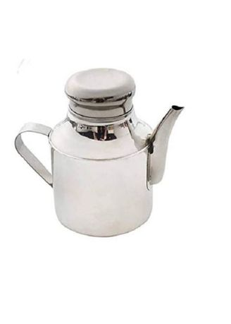 Silver color Kitchen . Stainless Steel Oil Pot, 11oz -