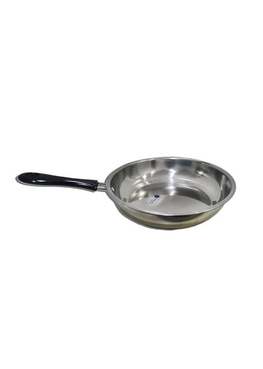 Silver color Kitchen . Stainless Steel Frying Pan, 24cm -