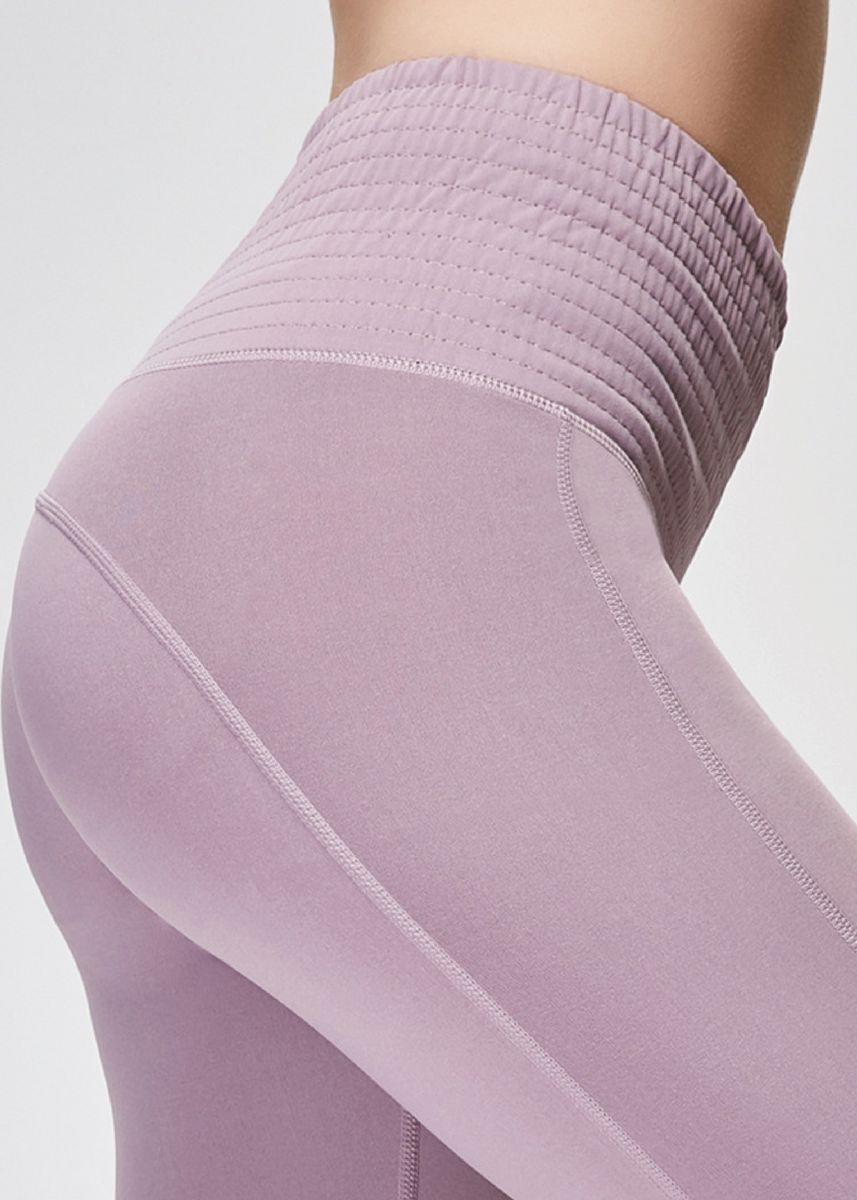 Violet color Leggings . Ladies High Waist Running Sports Breathable Fitness Pants -