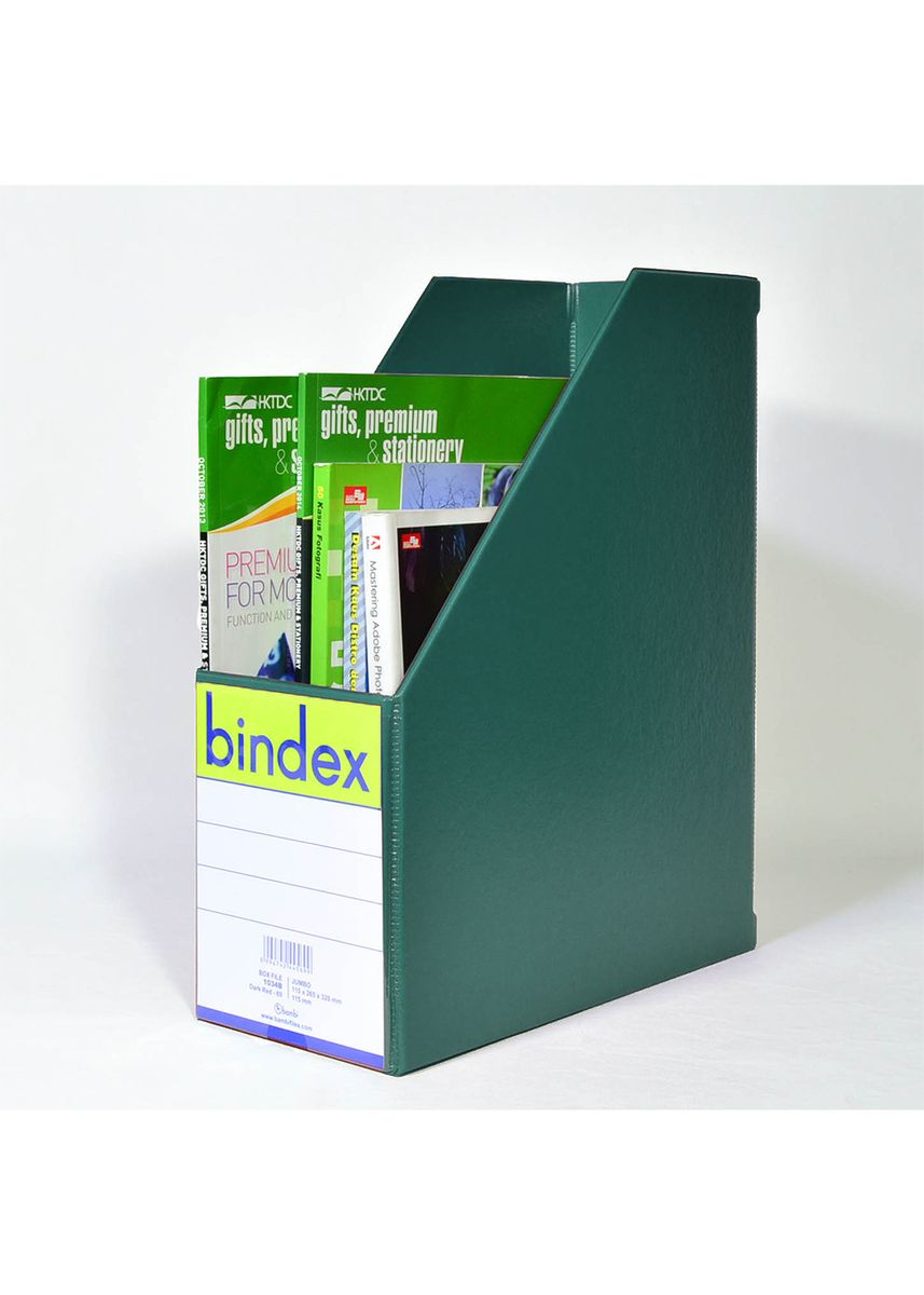 Tidak Berwarna color File dan Folder . Bindex Box Magazine File JUMBO 1034 - 14 MEDIUM GREEN -