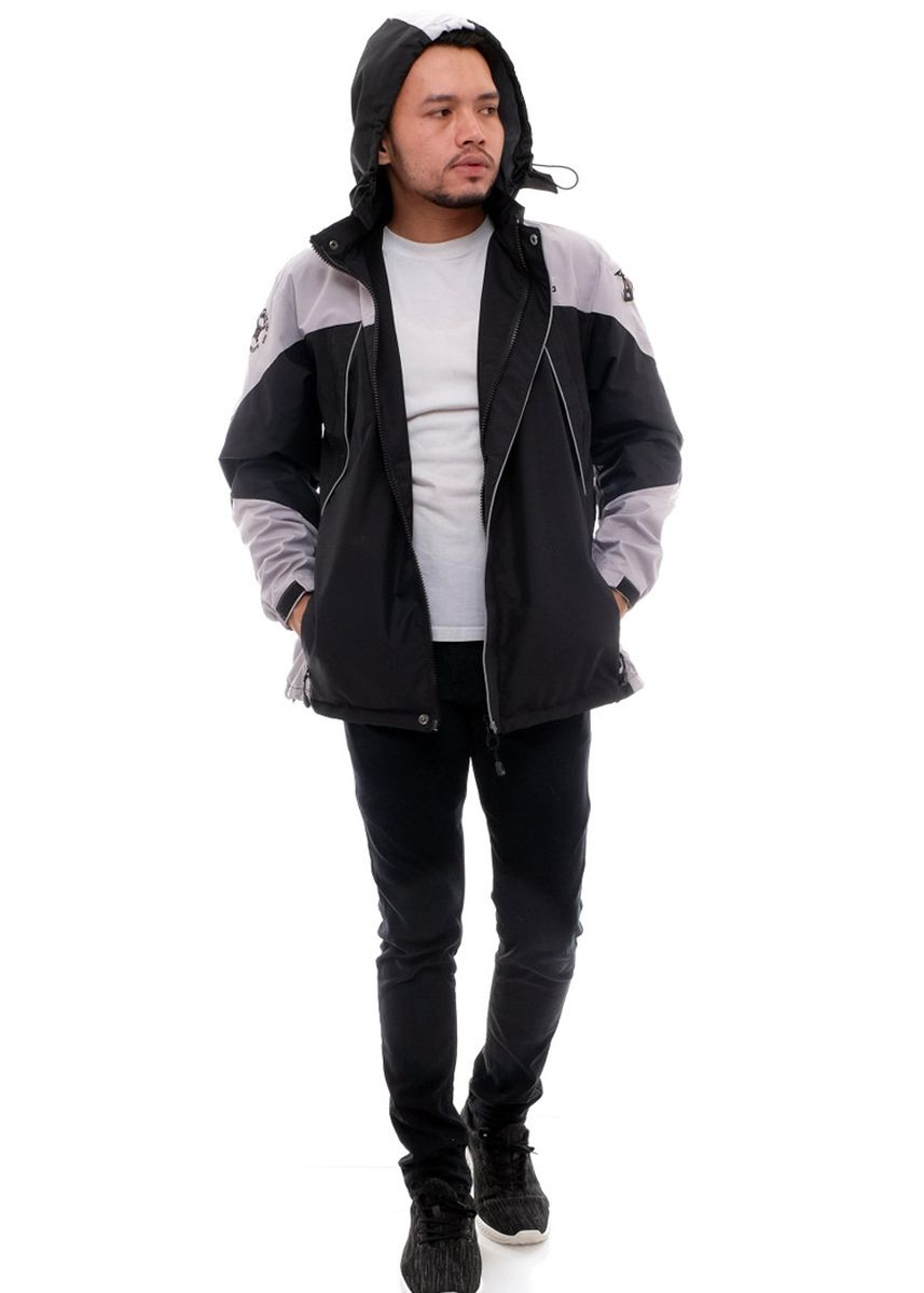Hitam color Jaket & Coat . X-Urband Official - Jaket Outdoor Pria (AbuMuda+Hitam) A021 -