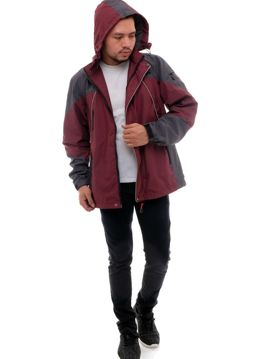Maroon color Outerwear . X-Urband Official - Jaket Outdoor Pria (Maroon) A021 -