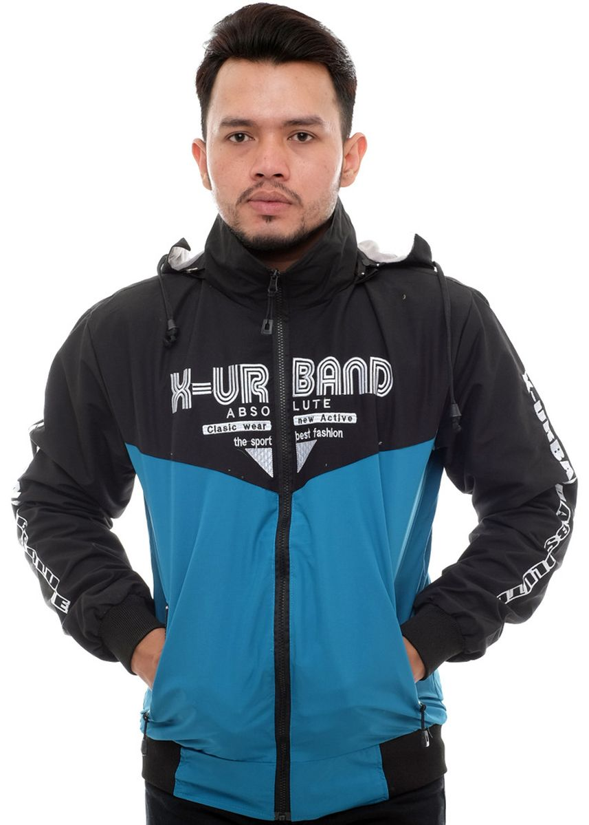 Blue color Outerwear . X-Urband Official - Jaket Windbreaker Pria (Biru) A023 -