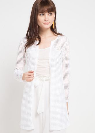 White color Outerwear . WM Kelly Cardigans -