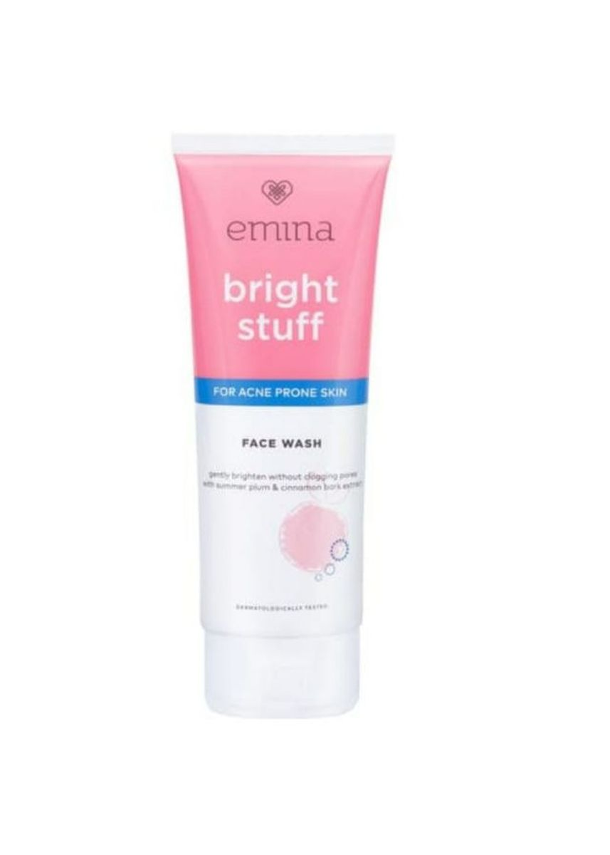 Tidak Berwarna color Pembersih Wajah . Emina Facial Wash Bright Stuff For Acne 50ml -
