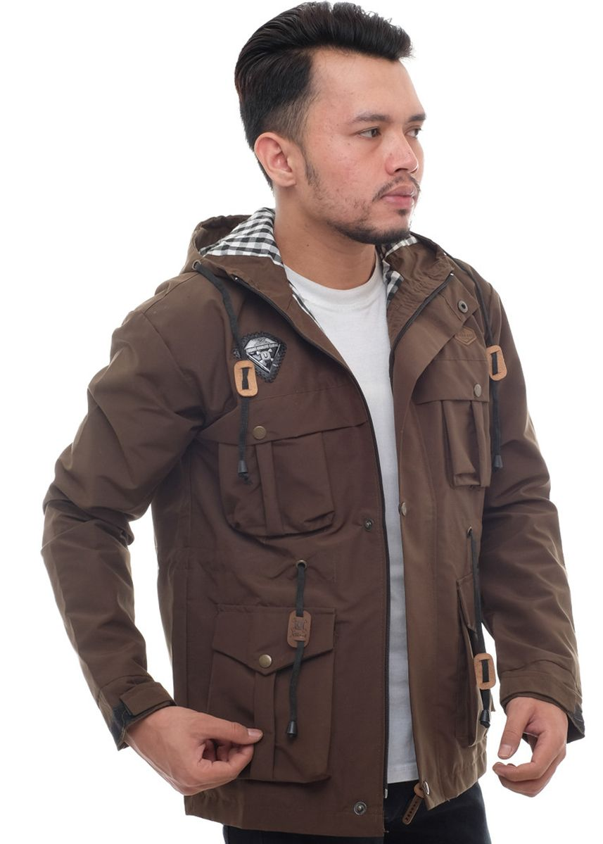Brown color Outerwear . X-Urband Official - Jaket Paka Pria (Coklat) A031 -