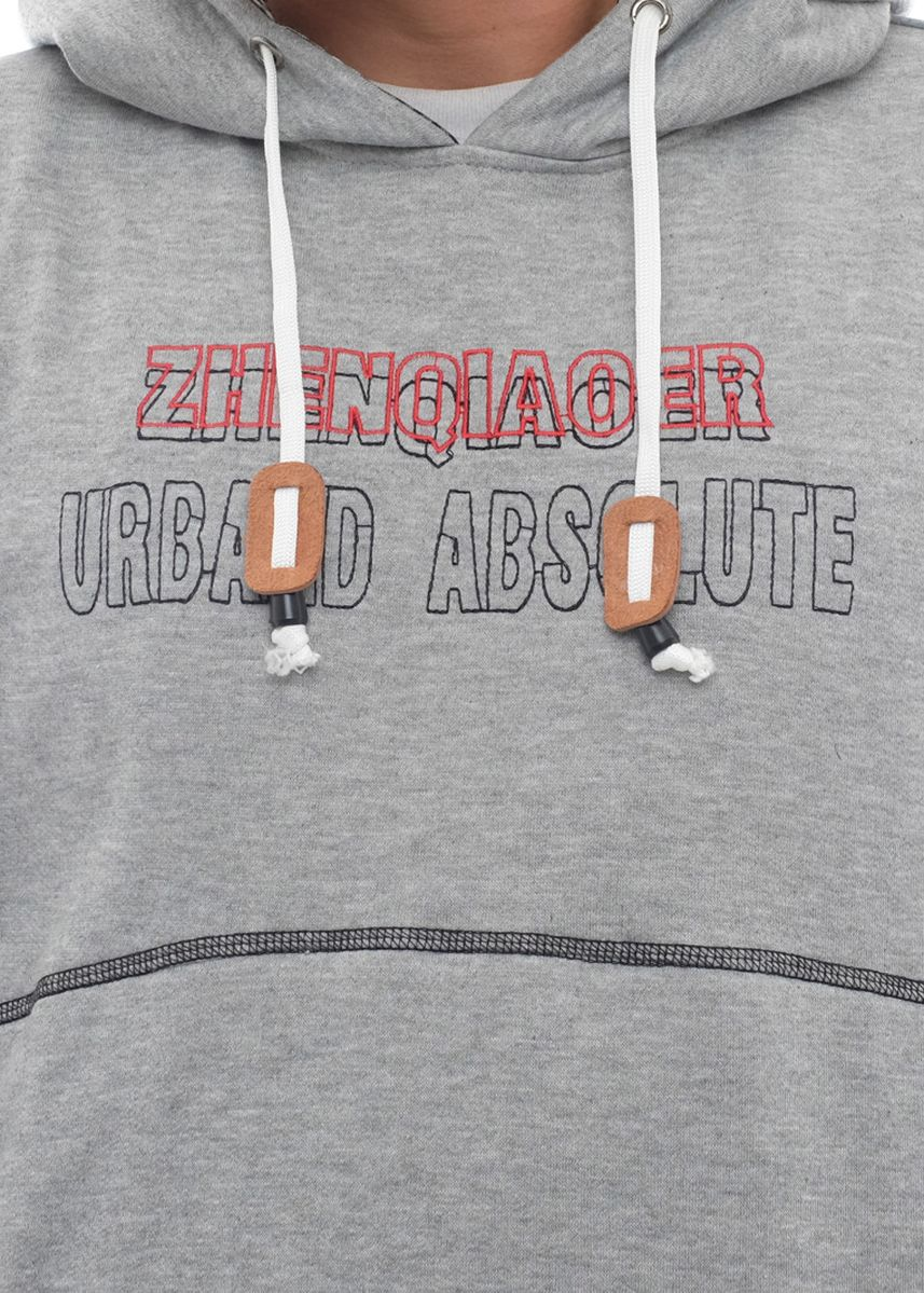 Light Grey color Outerwear . X-Urband Official - Sweater Hoodie Pria (Abu muda) A032  -