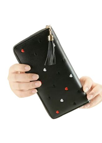Black color Wallets and Clutches . Dompet Wanita Volca Cute -