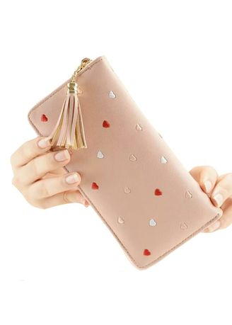 Pink color Wallets and Clutches . Dompet Wanita Volca Cute -