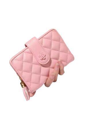 Pink color Wallets and Clutches . Dompet Wanita Jahit Cantik  -