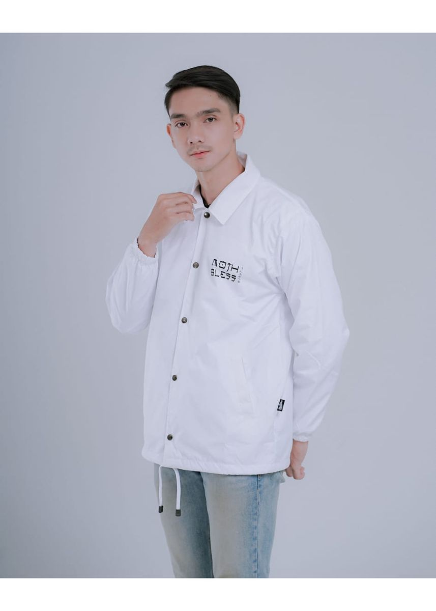White color Outerwear . jaket coach muten roshi white -
