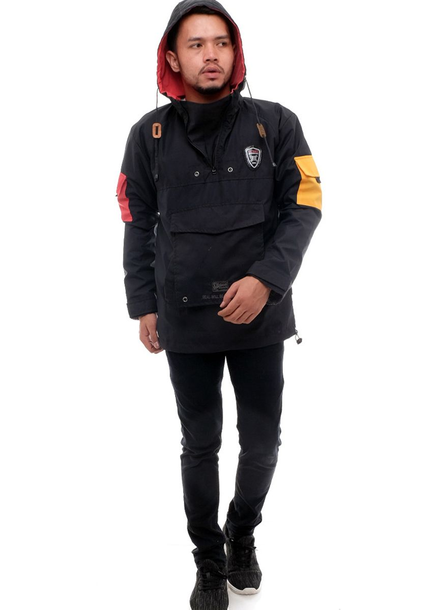 Black color Outerwear . X-Urband Official - Jaket Outdoor Pria (Hitam) A038 -