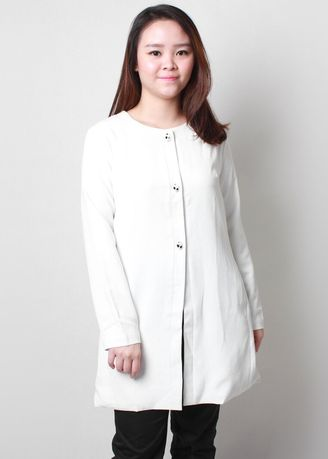 White color Outerwear . WM Linda Cardigans -