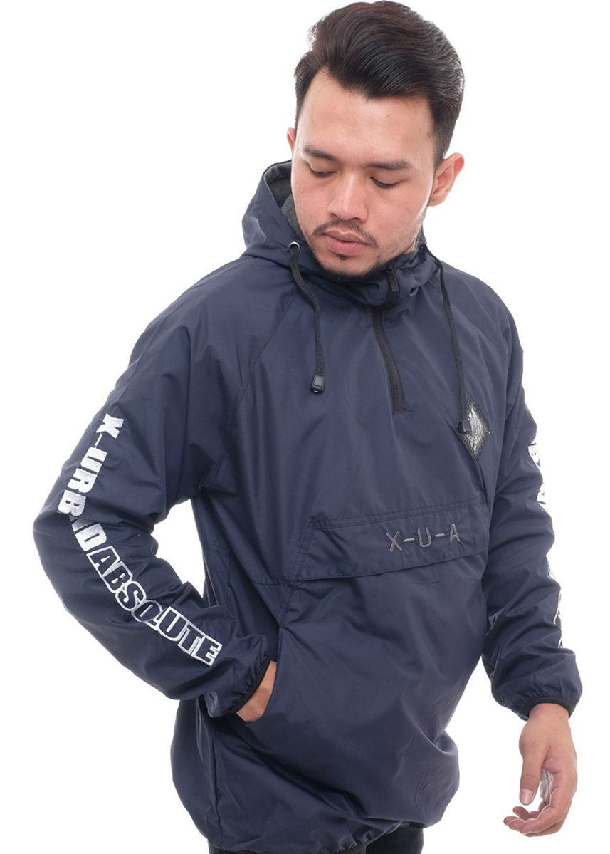 Navy color Outerwear . X-Urband Official - Jaket Cagoule Pria (Navy) A043 -