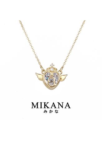 Gold color  . Mikana Magical Girl Mahou Shoujo Usagi 18k Gold Plated Necklace Accessories For Women -