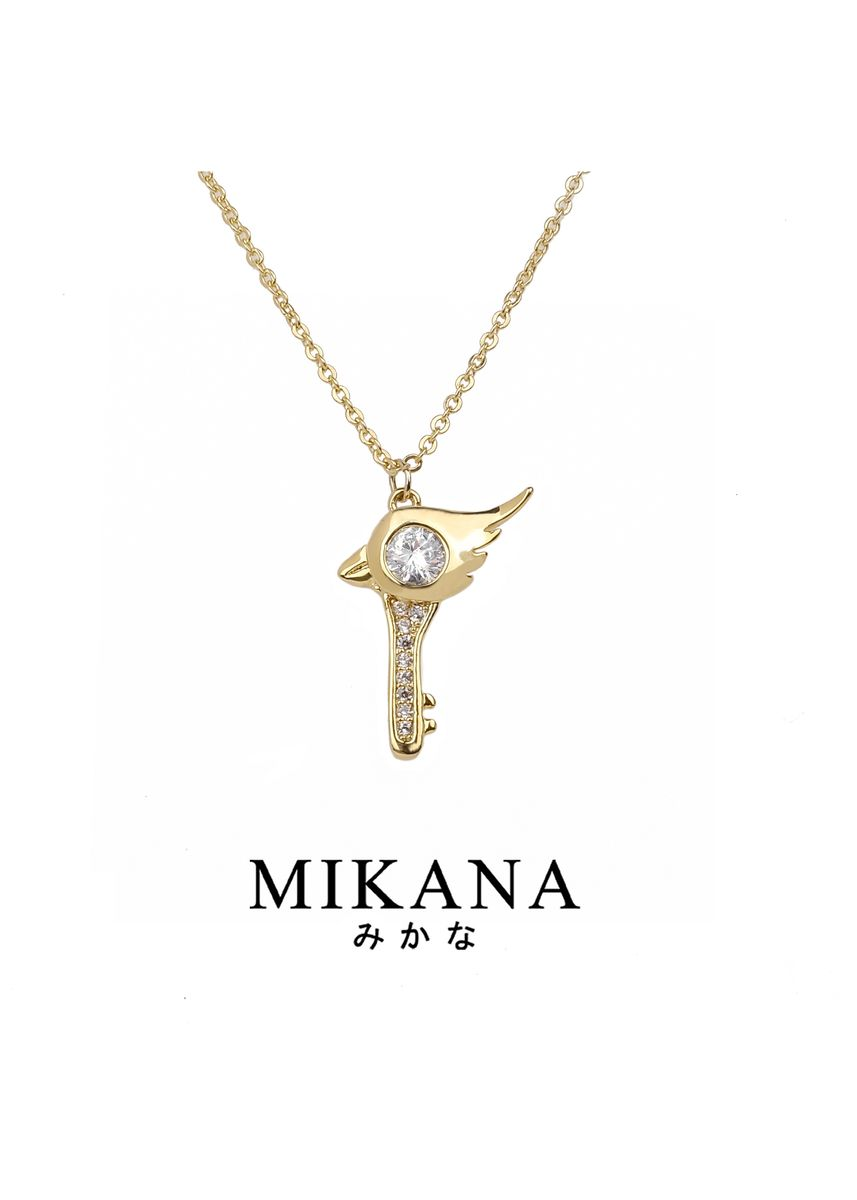 Gold color  . Mikana Magical Girl Mahou Shoujo Sakurai 18k Gold Plated Necklace Accessories For Women -
