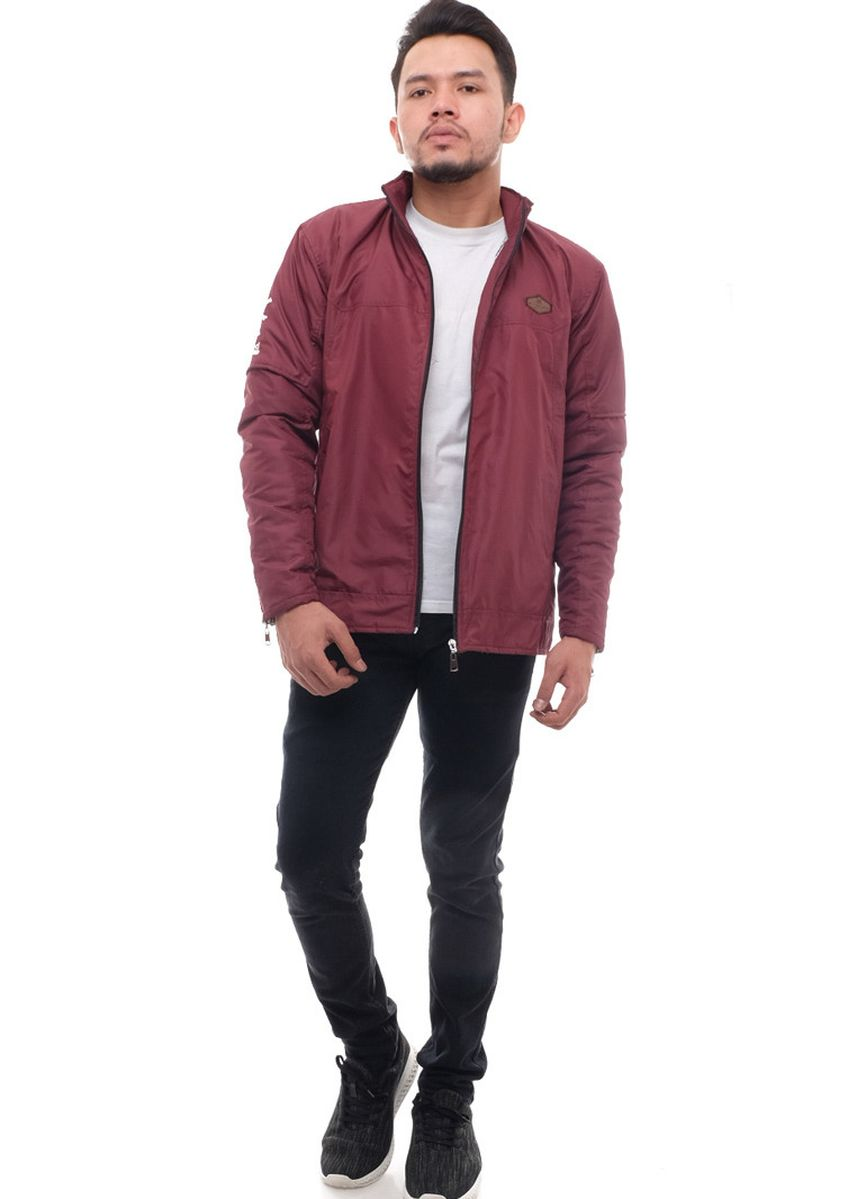 Maroon color Jaket & Coat . X-Urband Official - Jaket Casual Pria (Maroon) A048 -