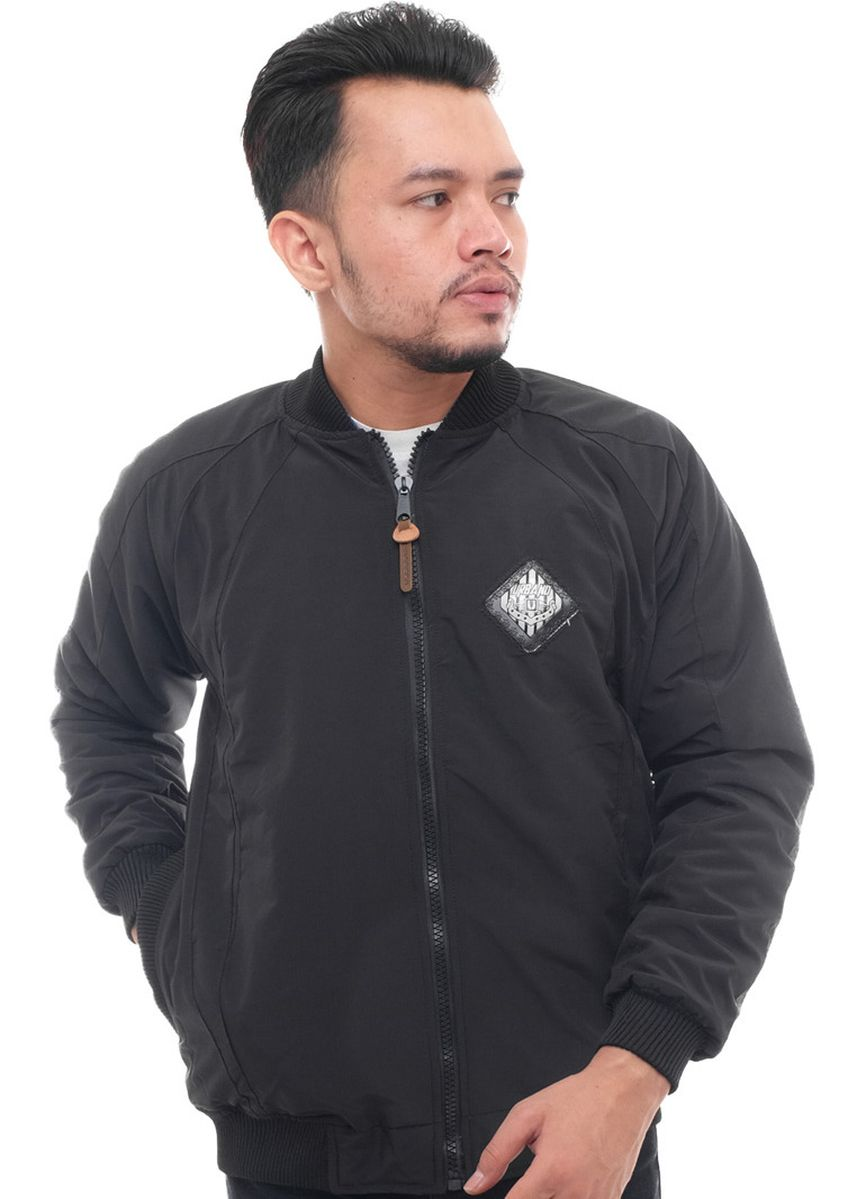 Black color Outerwear . X-Urband Official - Jaket Bomber Pria (Hitam) A053 -