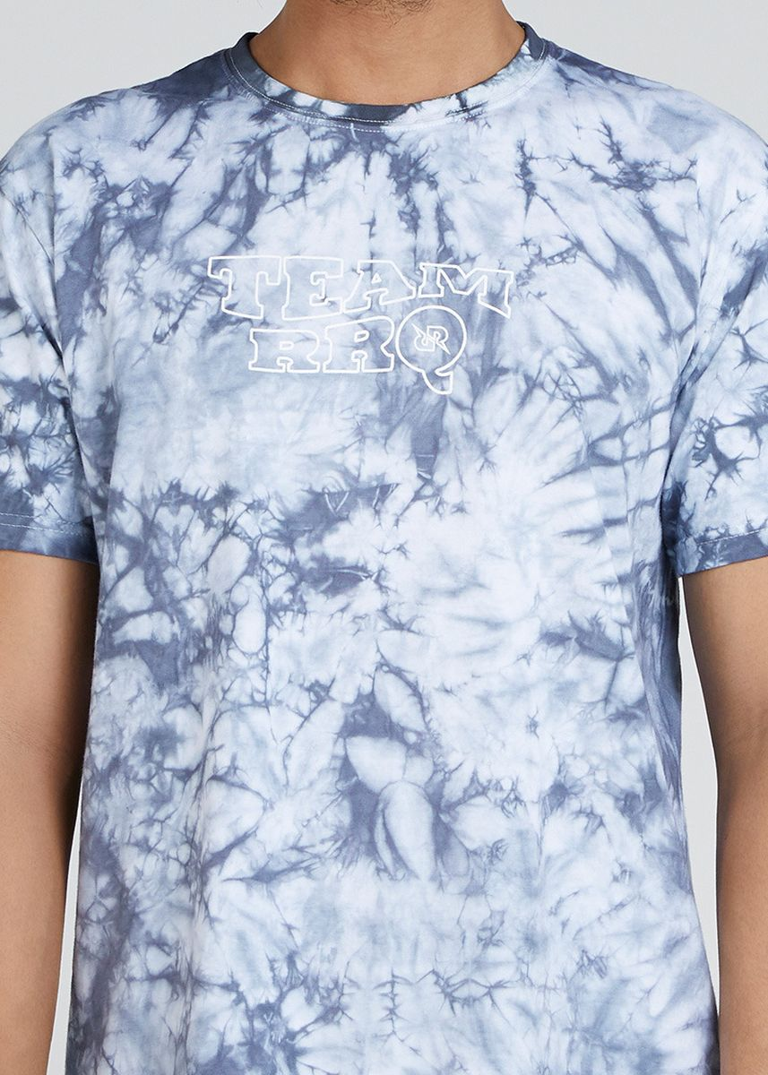 Cyan color T-Shirts and Polos . Tie Dye RRQ Sunrise -