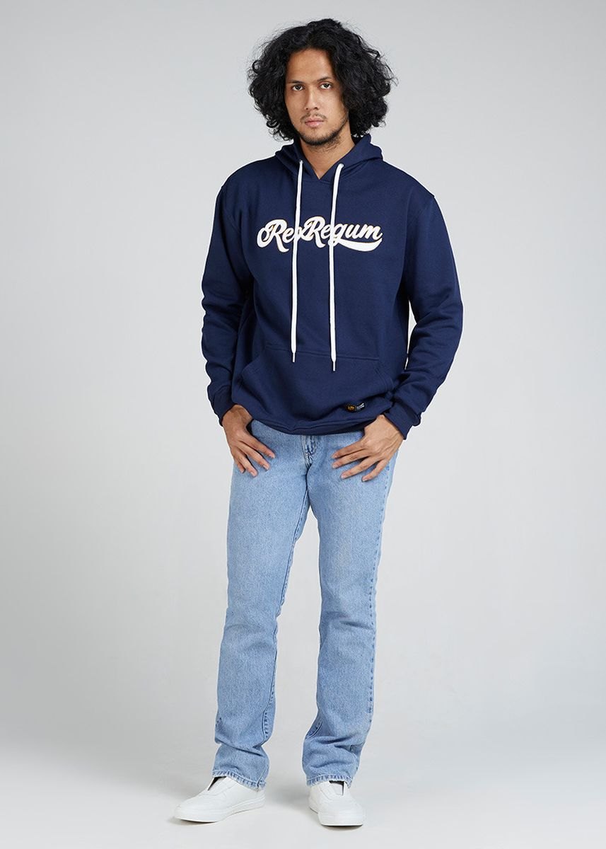 Biru color Sweater . Hoodie RRQ Navy -