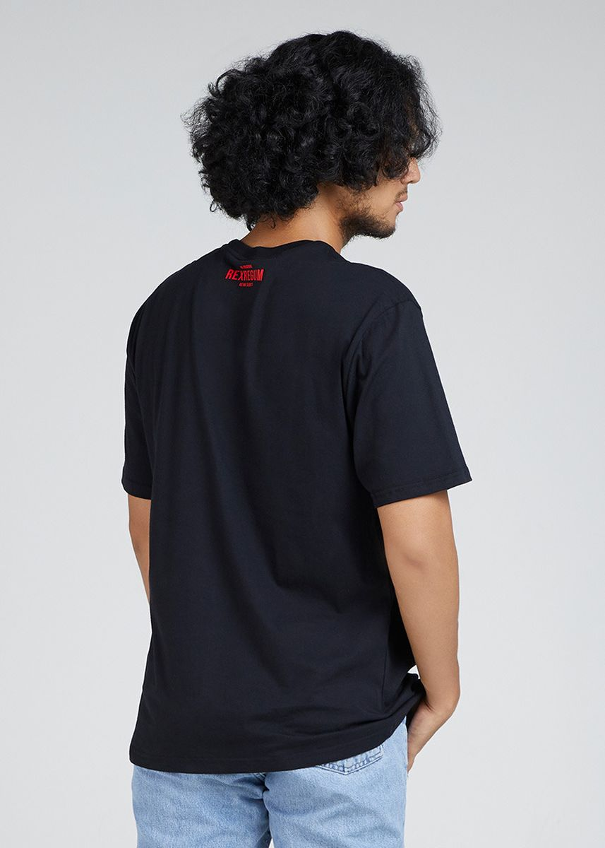 Hitam color Kaus Oblong & Polo . Strongest King -