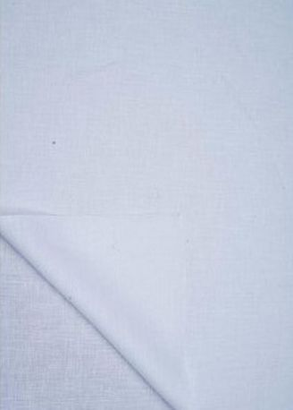 White color Cotton Blend . The Athens Fabric -