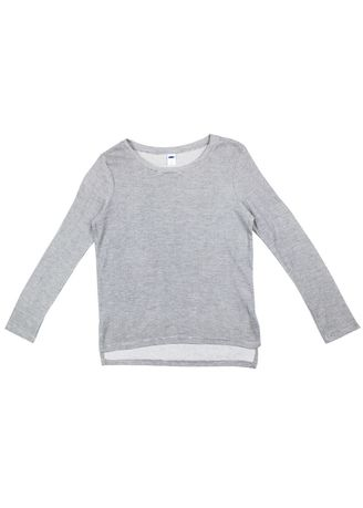 Grey color Tops and Tunics . Women's Long Sleeves Shirt -