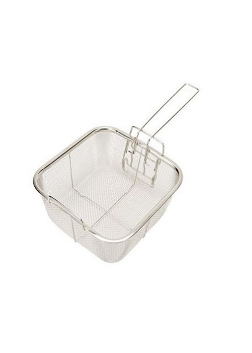 Silver color Kitchen . Stainless Steel Frying Basket, 20cm -