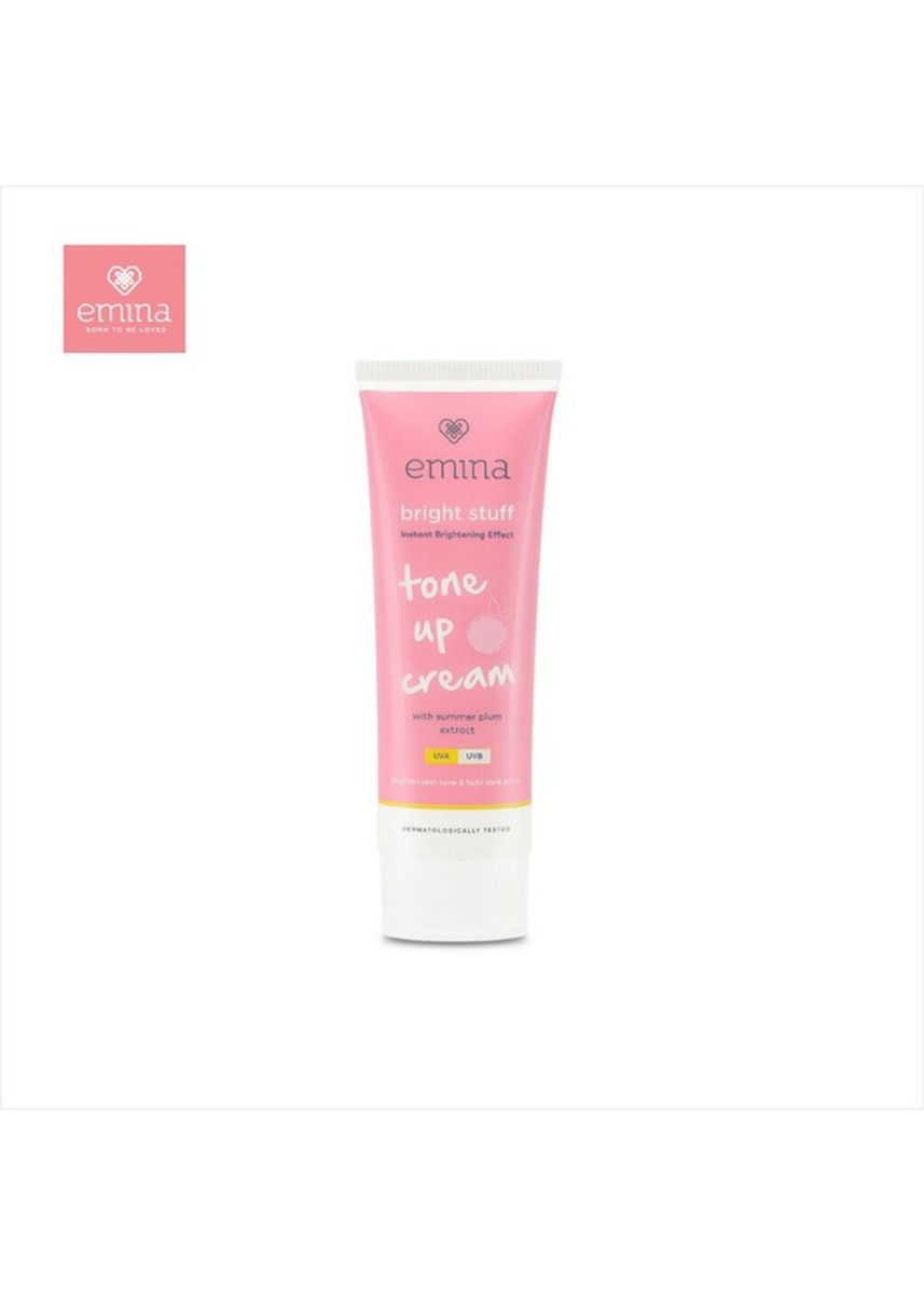 Tidak Berwarna color Pelembap . Emina Tone Up Cream Bright Stuff 20gr -
