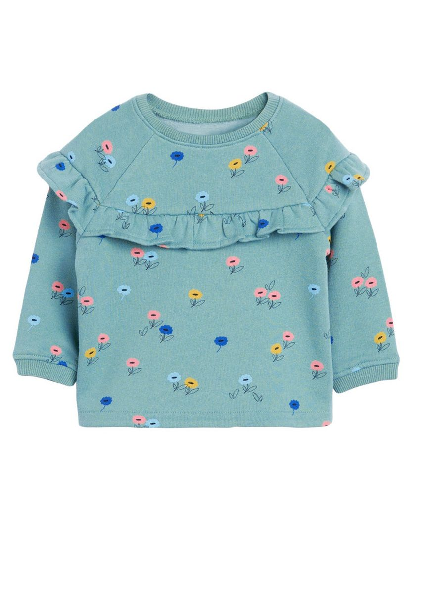 Blue color Sets . New Knitted Long-sleeved Cotton Girl's Suit -