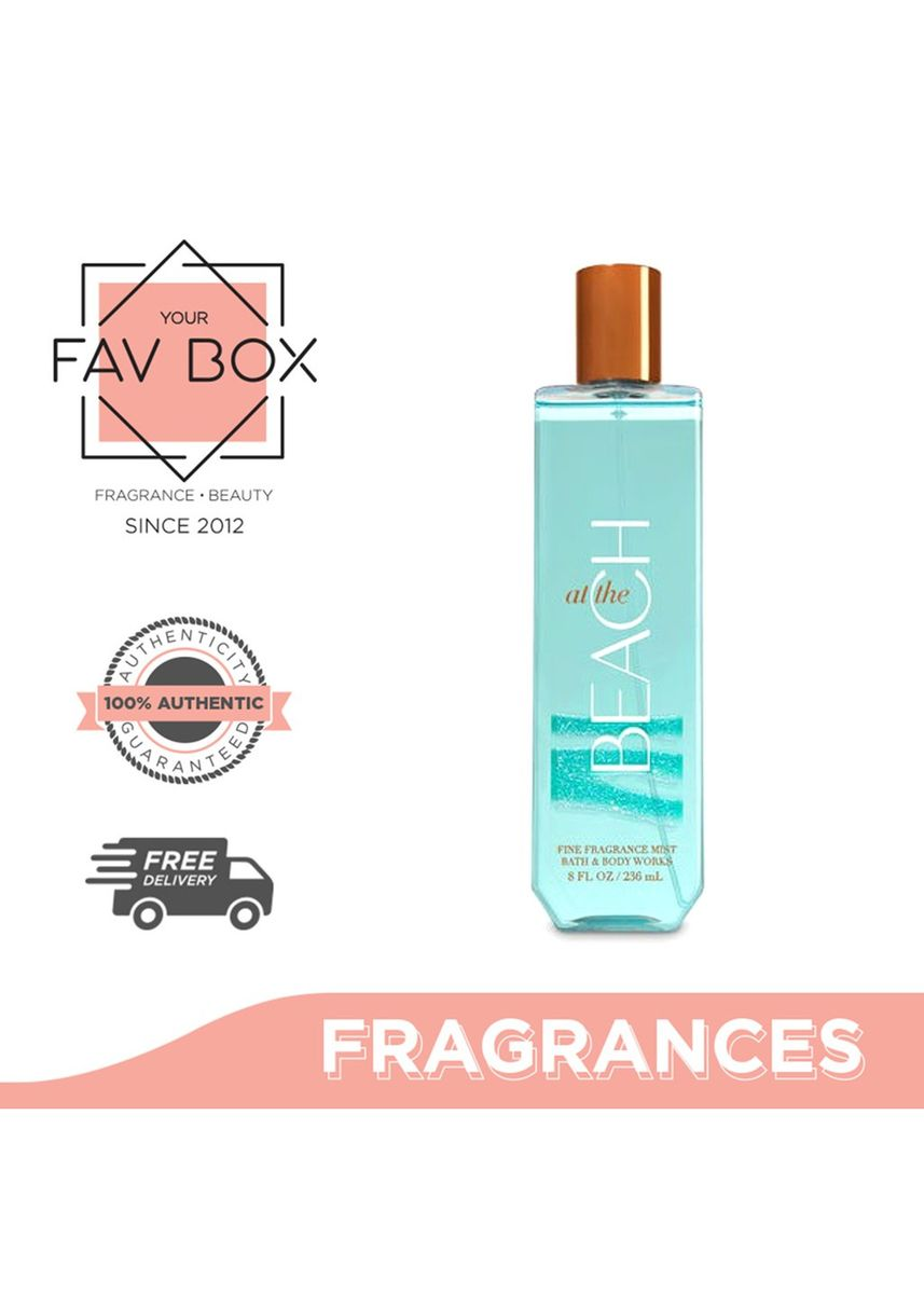 No Color color Fragrances . YOUR FAV BOX  Bath and Body Works At The Beach Fine Fragrance Mist 236ml -